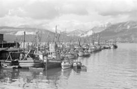 [Fishing boats moored in Vancouver Harbour]
