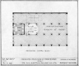 Proposed office bldg & show rooms for the B.C. Electric Railway Co. Ltd. : mezzanine floor plan
