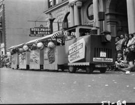 Canada Packers float in 1953 P.N.E. Opening Day Parade