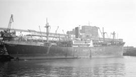 S.S. Hong Kong Importer [at dock, at Ballantyne Pier]