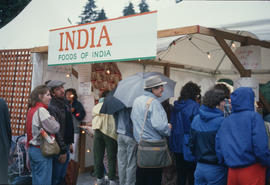 Foods of India stand at Food Fair during the Centennial Commission's Canada Day celebrations