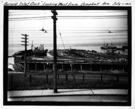 """Burrard Inlet Dock"" looking west from Campbell Ave. July 1, 1913"