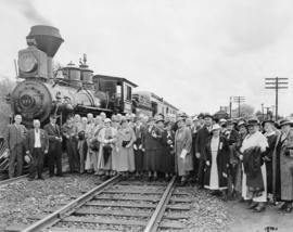Special train carrying pioneers and citizens of Vancouver at Coquitlam ready for departure for Po...