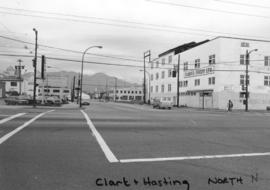 Clark [Drive] and Hastings [Street looking] north