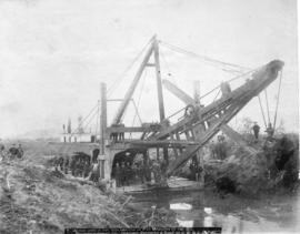 Dredge Used in the Reclamation of Pitt Meadows by the B.C. Draining and Dyking Company Designed, ...