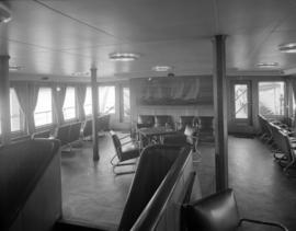 [Interior view of a seating seat area on the U.S.S. Chilcotin]