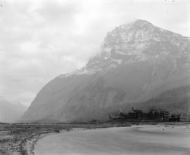 [View of Mount Stephen and C.P.R. Mount Stephen House]