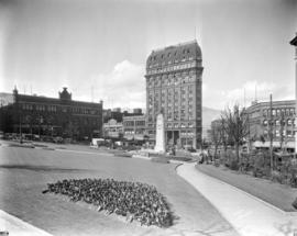 [Victory Square from Cambie and Pender Streets]