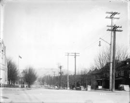 [View of Burrard Street, looking north from Nelson Street]