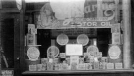 Auto filler - Granville Street, showing products through the window