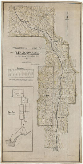 Topographical map of T.L.s 3058 to 3062 (inclusive). Klite River-Toba Inlet, B.C.