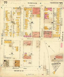 Plate 77 [Seymour Street to Drake Street to Hornby Street to Beach Avenue]