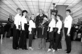 William Hutt with tap dance group