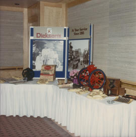 Dickson's display at Kiwanis Club Centennial luncheon