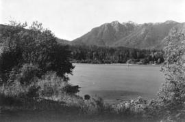 "[View across the Second Narrows from ""Chaythoos"" near Prospect Point]"