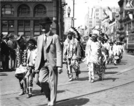Kootenay Indians at [Vancouver] Exhibition parade