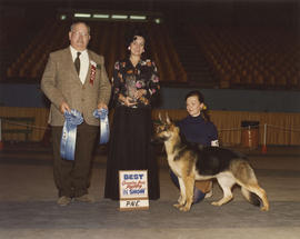 Best Canadian Bred Puppy in Show award being presented at 1976 P.N.E. All-Breed Dog Show [German ...