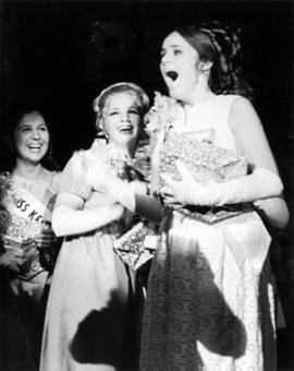 Miss New Westminster, Patricia Gaye McPhee, reacts after being named Miss P.N.E. 1969