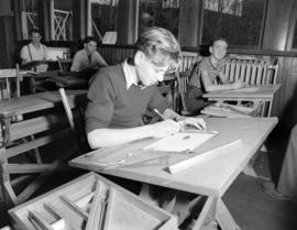 Johnny MacDonald learning drafting in school