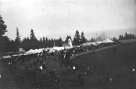 [Tents and crowds at Hastings Park]