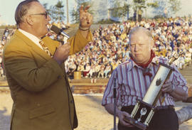 1971 P.N.E. Timber Show trophy presentation