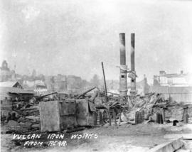 Vulcan Iron Works from rear [after fire of September 10, 1898]