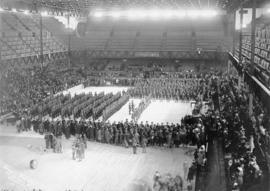 [The 29th Vancouver Battalion C.E.F. in Denman Arena]