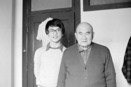 Paul Yee with Jumbo Wong of Cumberland, B.C.