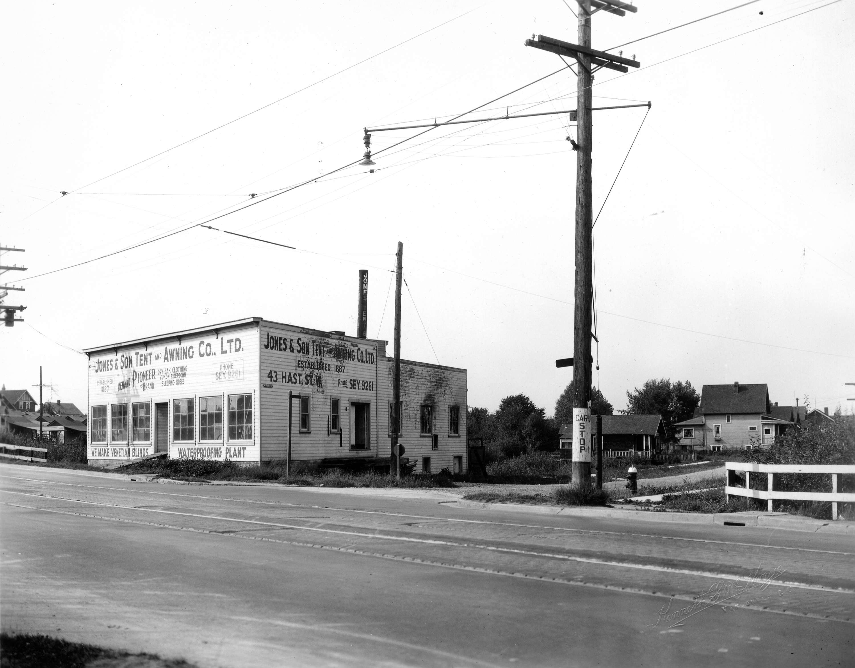 Open original Digital object  sc 1 st  City of Vancouver Archives & Kingsway at Perry Street Jones Tent and Awning Co. Ltd. pre ...