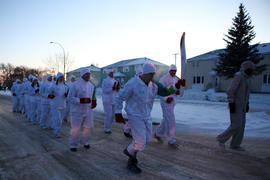 Day 71 Torchbearer 55 Clinton Gingrich carries the flame for his Torchbearer Group in CFB/BFC Shi...