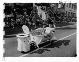 Cap's Bicycle Stores entry in 1956 P.N.E. Opening Day Parade