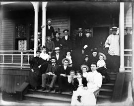 [Captain Malcolm McLeod's family on the steps of 526 Homer Street]