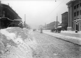 Main & Pender [after heavy snowfall]