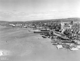 [Aerial view of the piers on the waterfront of] Vancouver, B.C.