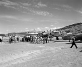 [Crews filling water bombers for drops in the Kamloops area]