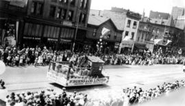 [The P. Burns and Company Limited float in the Dominion Day Parade]