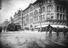 [View of the 400 block Granville Street from West Hastings Street]