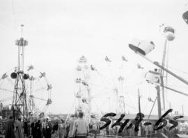 Amusement rides in P.N.E. Gayway