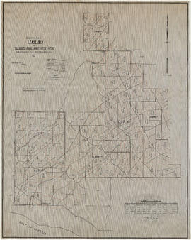 Topographical map of Lease 919 and T.L.s 10885P-10886P-10887-11775P and 11776P
