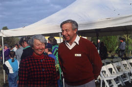 Rick Hankin (manager, GVRD Parks) with Cornelia Oberlander