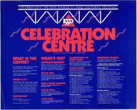 1990 Celebration Centre : celebration '90 gay games III and cultural festival