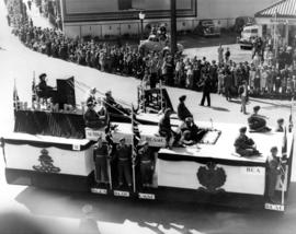 Armed Forces float at Vancouver Diamond Jubilee Parade