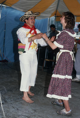 Man and woman dancing during the Centennial Canada Day celebrations