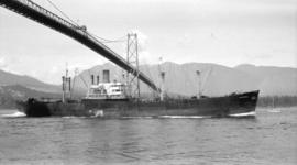 M.S. Sierra [passing under Lions Gate Bridge]