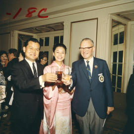 P.N.E. President H. Fairbank and Japanese guests at P.N.E. event