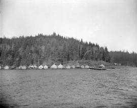 [View of] Pacific Mills [logging area on the] Queen Charlotte Islands