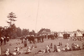 [2nd Battalion, 5th Regiment, Canadian Garrison Artillery in camp at Beacon Hill]