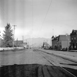 [View of Westminster Avenue looking north from street car terminus at 9th Avenue]