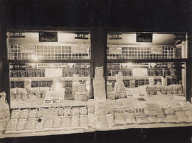 Window display of W.H. Walsh Grocer
