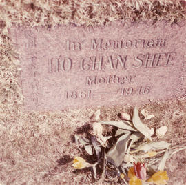 Gravestone for Ho Chan Shee